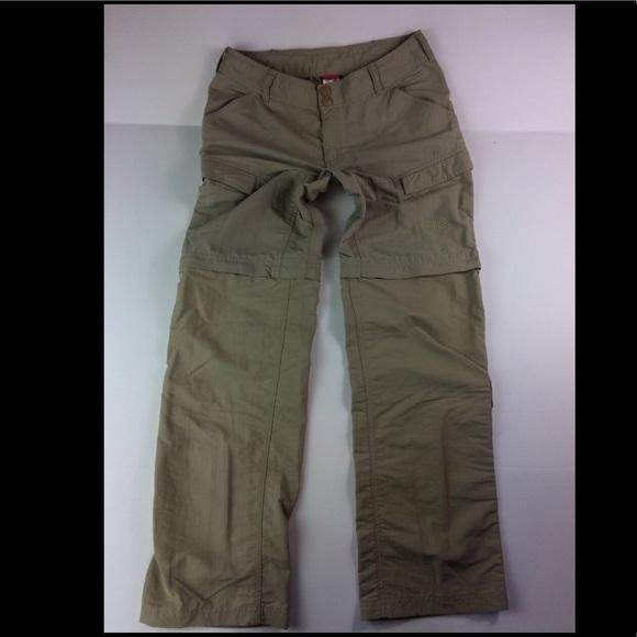 0d73904aa The North Face Pants | North Face Khaki Convertible Cargo Sz 6 ...